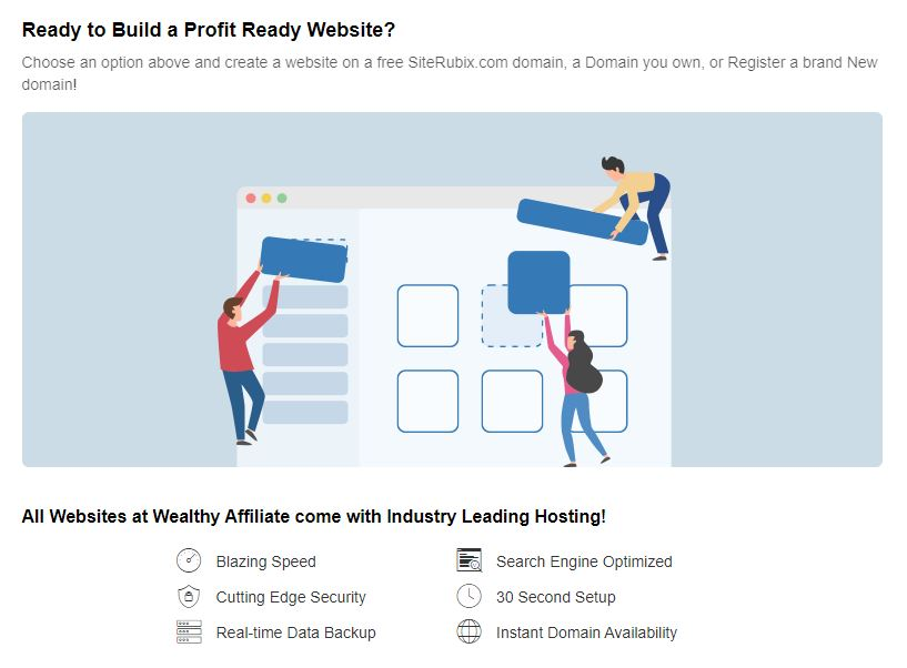 Wealthy Affiliate Website Hosting Features