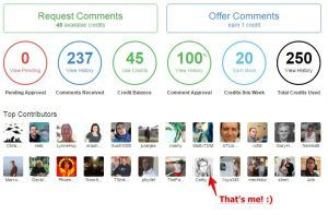 Comment Engagement Activities on SiteRubix