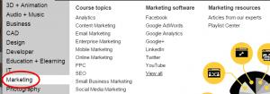 Online Marketing Courses in Lynda