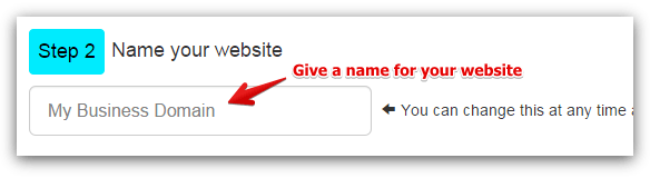 Step 2 - Create a Domain Name for Your Website