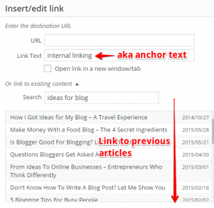 How to Create Internal Links