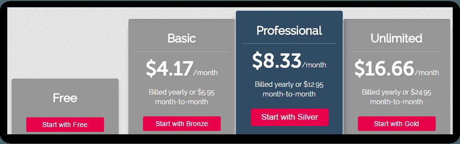 Yola Website Builder Pricing Plan