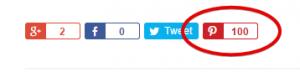 Pinterest Social Count on My Blog