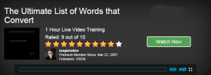 The Ultimate List of Words that Convert  - Webinar by Jay from Wealthy Affiliate