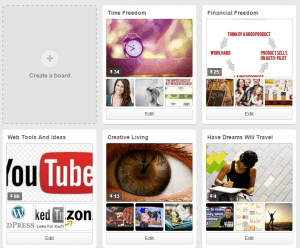 Example of Pinterest Boards