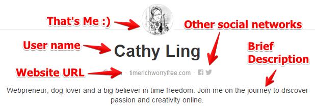 Example of My Pinterest Profile