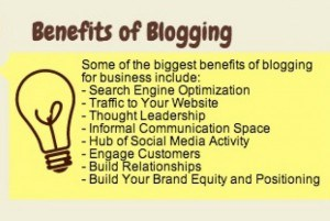 Infographic - The Benefits of Blogging