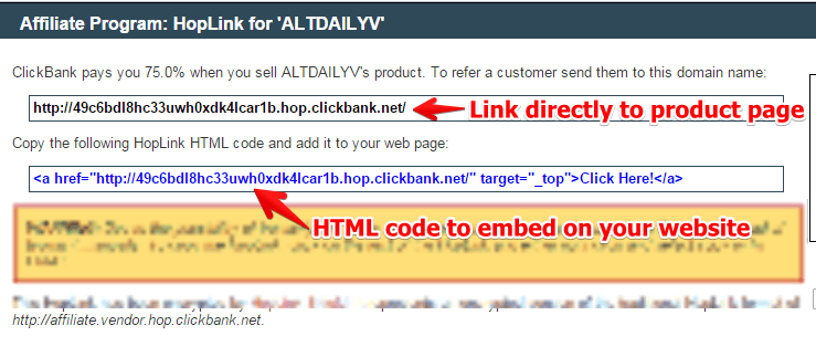 How to Create Your Hoplink on Clickbank