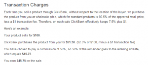 Vendor Transaction Fee Clickbank