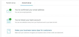 Account Set Up on PayPal