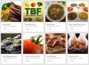 Google Food Communities