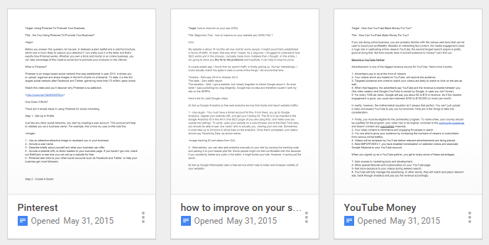 Using Google Docs to Save Your Drafts