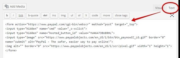How to Use PayPal on My Business Website - Paste the Code on WordPress