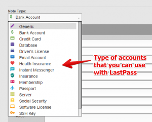 Other Personal Accounts That You Can Use With LastPass