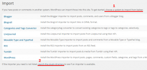 Import System Within WordPress