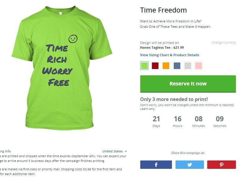 Make Money Selling T Shirts Online With Teespring Time