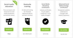 Social Media Education Courses by Podium