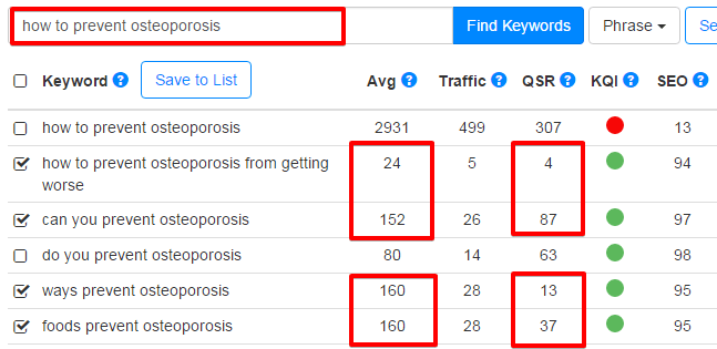 Keyword Research - How to Prevent Osteoporosis