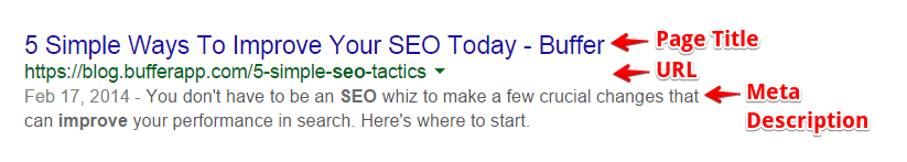 An Example of Google Search Preview