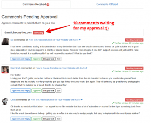 Comment Engagement from SiteComments