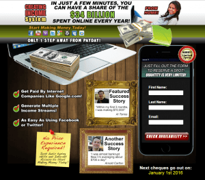 Bad Landing Page Example 1