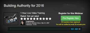Webinar - Building Authority for 2016