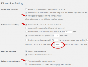 Activate Commenting System in WordPress