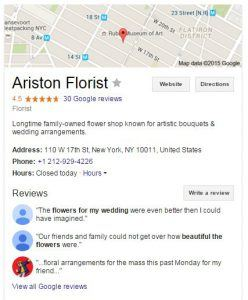 Ariston Florist - Google My Business