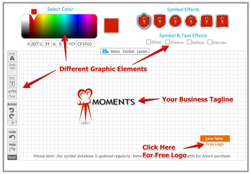 How to Make a Business Logo for Free - Logo Garden Editor