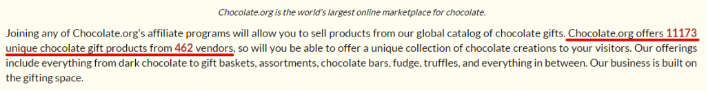 Affiliate Program by Chocolate.org