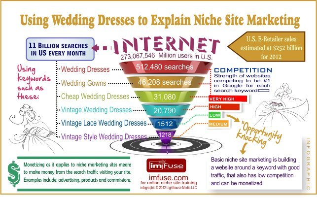 Infographic - Explaning Niche Site Marketing