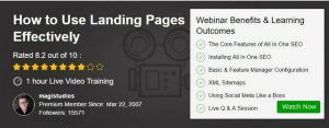 Webinar - How to Use Landing Pages Effectively