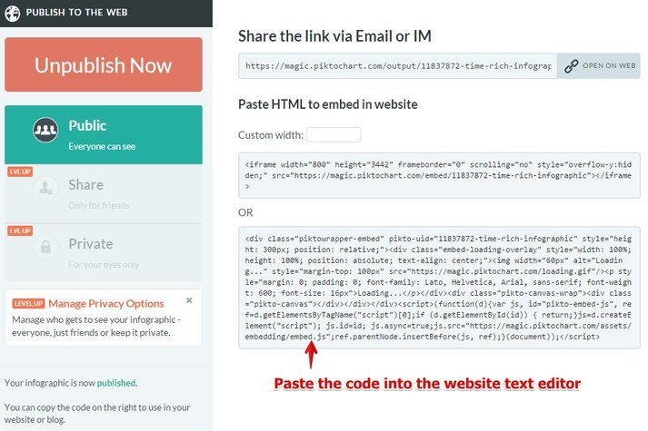 Embed Infographic Code on Your Website