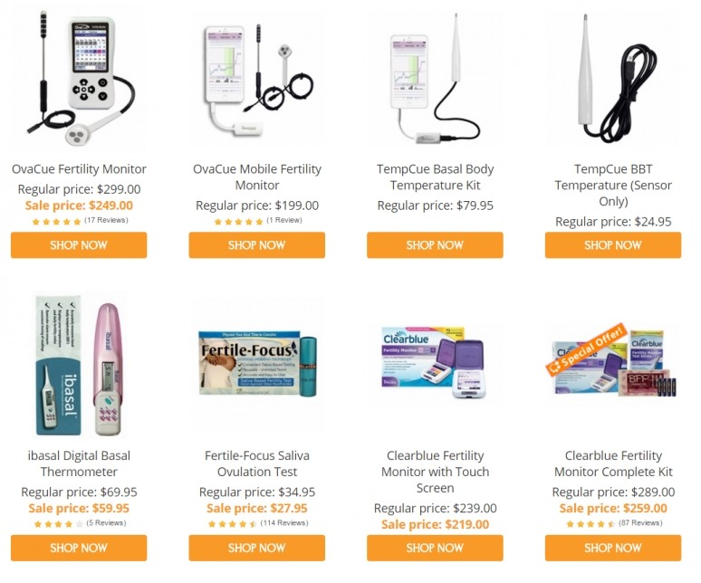 Examples of Fertility Products Online