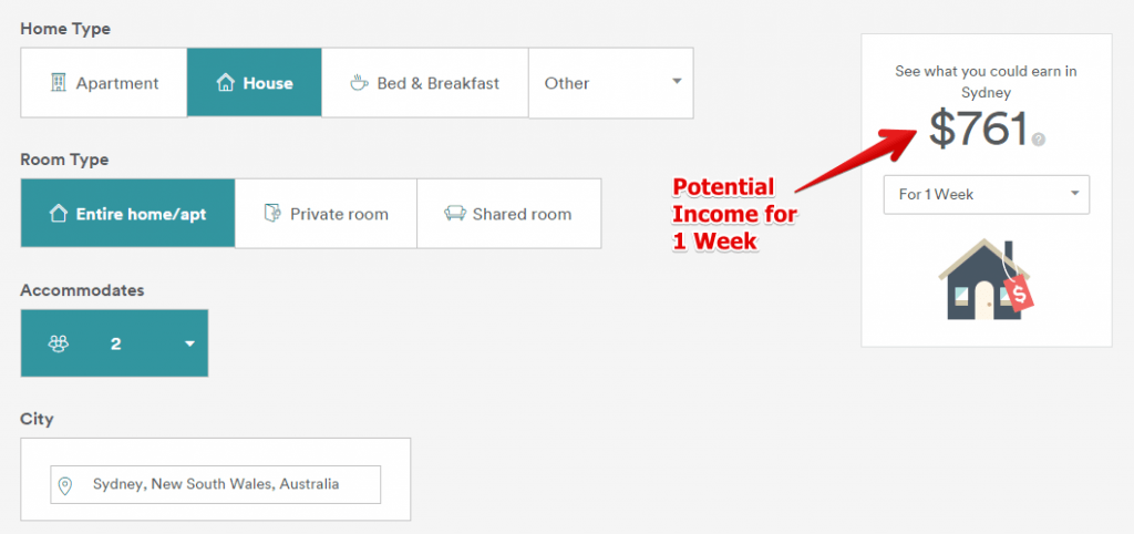 Listing Page for Airbnb Host