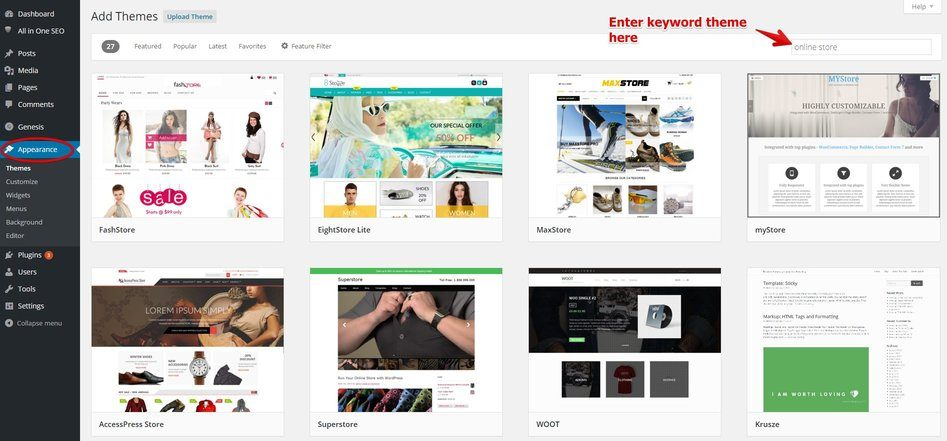 WordPress Theme for Online Stores