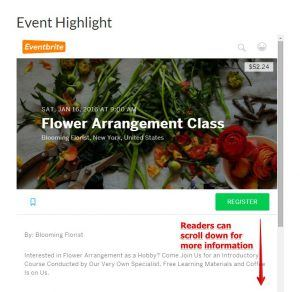 An Example of an Event Page