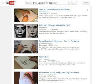YouTube Video Tutorials for Portrait Drawing