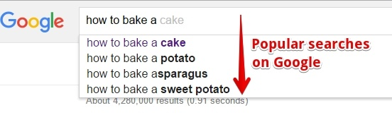 An Example of Google Suggest