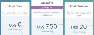 Jimdo Pricing Plan