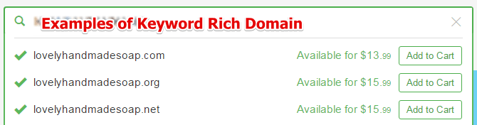 Examples of Keyword Rich Domains