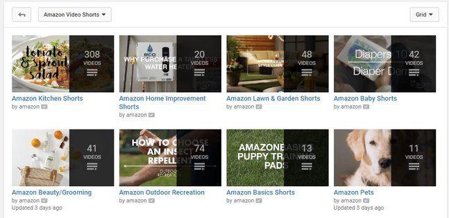 Amazon Videos on YouTube