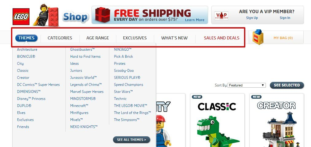The Lego Online Shop