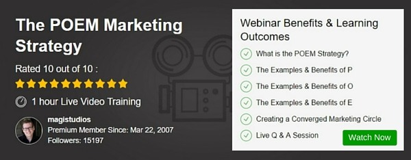 Webinar - The POEM Marketing Strategy