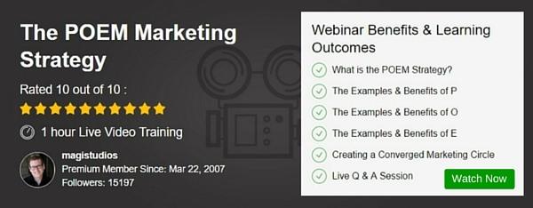 Webinar - The POEM Marketing Strategy