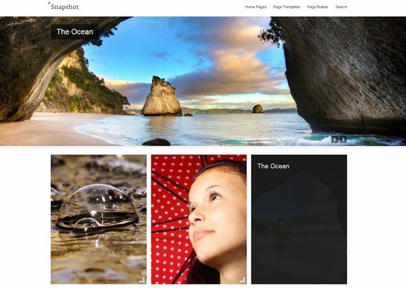 Snapshot - WordPress Theme for Photographers 2