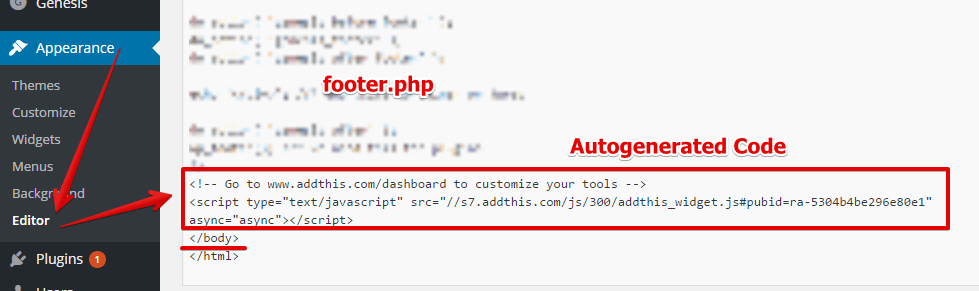 Embed AddThis Code on WordPress Website