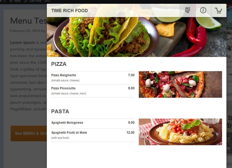 GloriaFood - The Front End of a Business Website