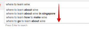 Google Suggest for Beginners in Wine