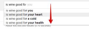 Google Suggest Health